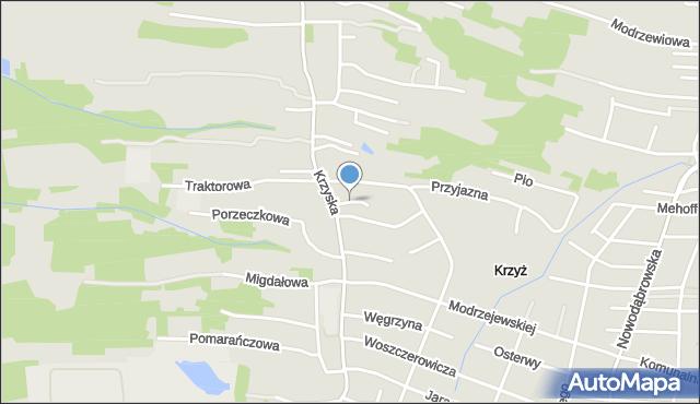 Tarnów, Gierymskich Aleksandra i Maksymiliana, mapa Tarnów