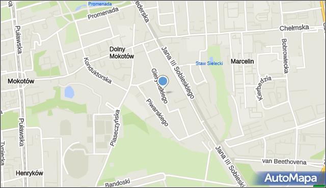 Warszawa, Gierymskiego Aleksandra, mapa Warszawy