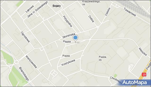 Białystok, Gliniana, mapa Białegostoku
