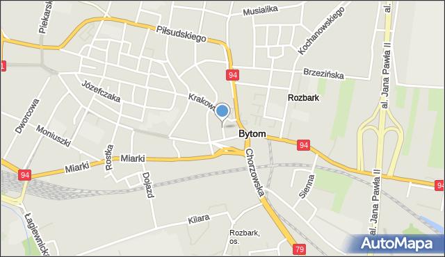 Bytom, Głęboka, mapa Bytomia