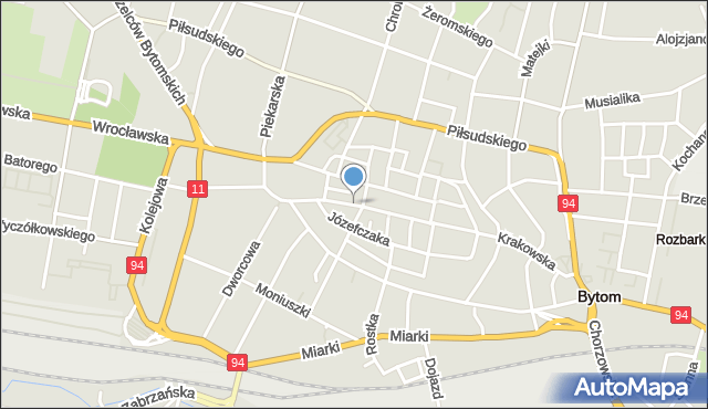 Bytom, Gliwicka, mapa Bytomia