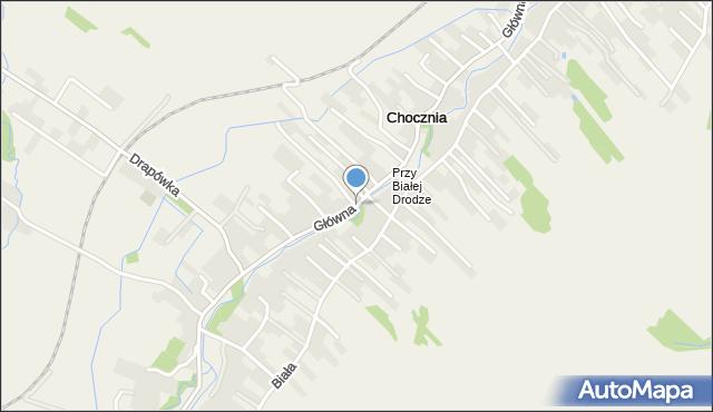 Chocznia, Główna, mapa Chocznia