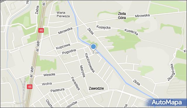 Częstochowa, Gładka, mapa Częstochowy