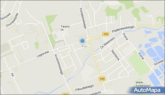Grudziądz, Głowackiego Bartosza, mapa Grudziądza