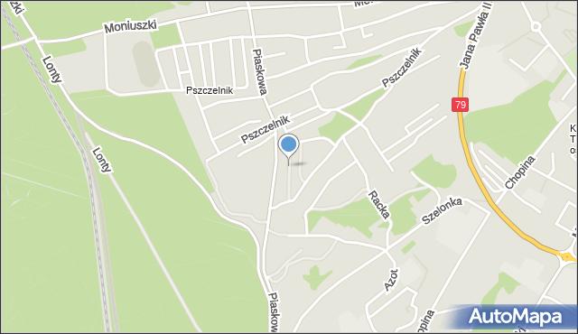 Jaworzno, Głowackiego Bartosza, mapa Jaworzno