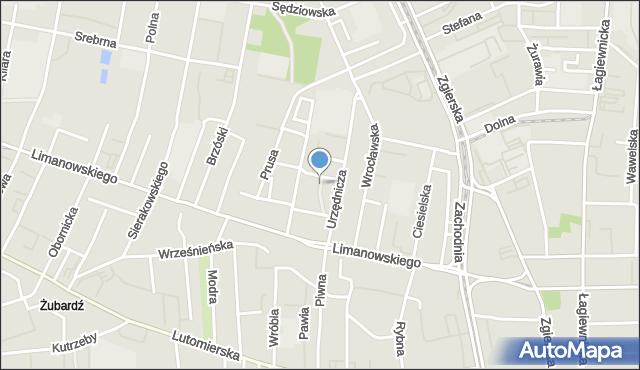 Łódź, Głucha, mapa Łodzi