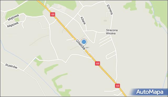 Mikołów, Gliwicka, mapa Mikołów