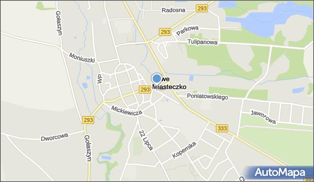 Nowe Miasteczko, Głogowska, mapa Nowe Miasteczko