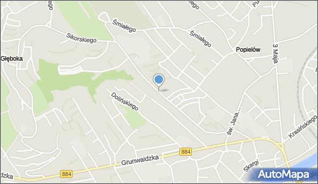 Przemyśl, Glazera Jakuba, bp., mapa Przemyśla