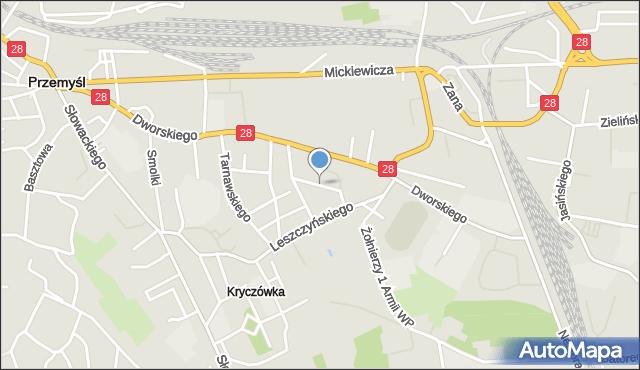 Przemyśl, Głowackiego Bartosza, mapa Przemyśla