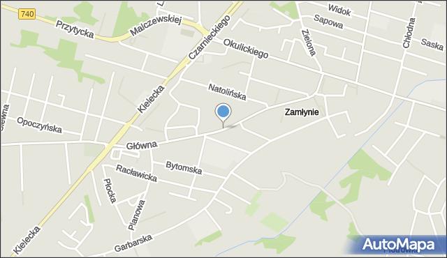 Radom, Główna, mapa Radomia