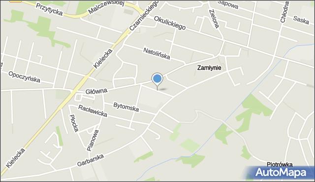 Radom, Gliniana, mapa Radomia