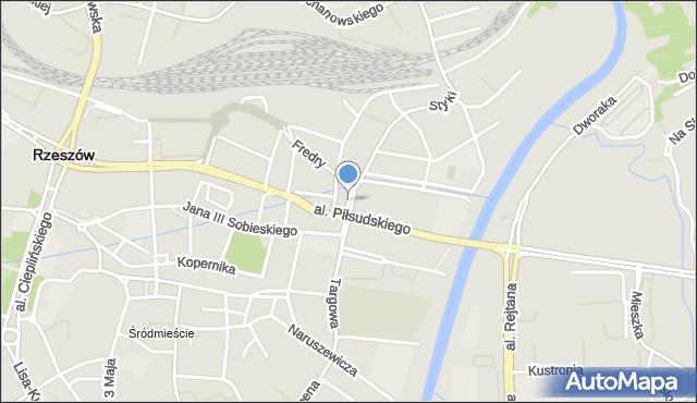 Rzeszów, Głowackiego Bartosza Wojciecha, mapa Rzeszów