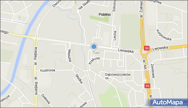 Rzeszów, Głęboka, mapa Rzeszów