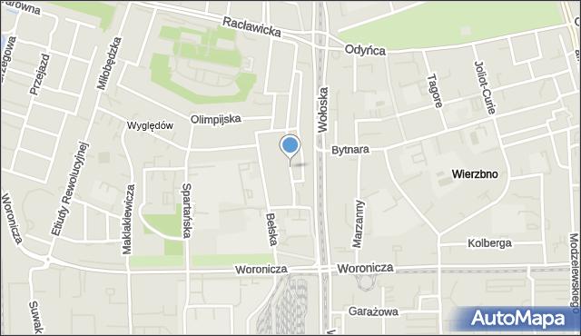 Warszawa, Głogowa, mapa Warszawy