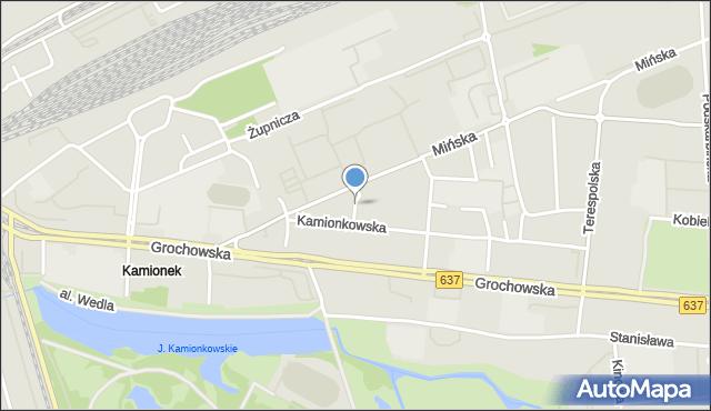 Warszawa, Głucha, mapa Warszawy
