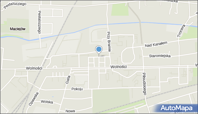 Zabrze, Gliwicka, mapa Zabrza