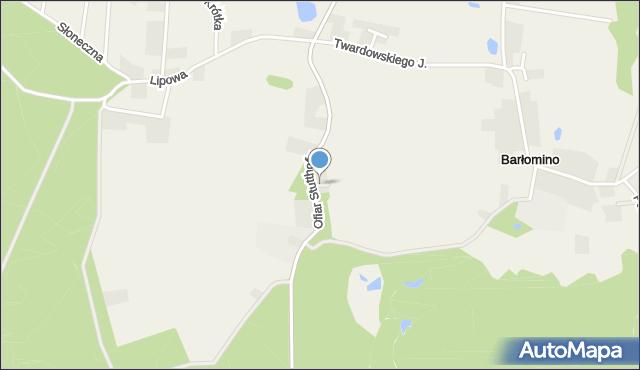Barłomino, Górna, mapa Barłomino