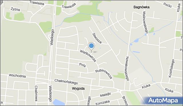 Białystok, Gogola Mikołaja, mapa Białegostoku