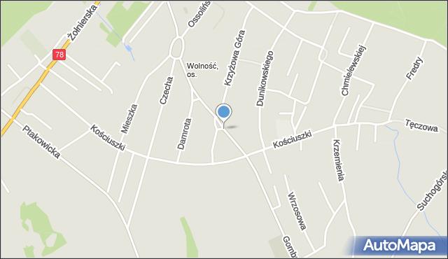 Bytom, Gombrowicza Witolda, mapa Bytomia