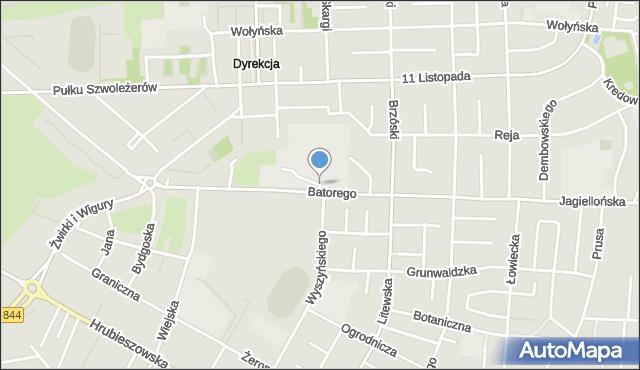 Chełm, Górna, mapa Chełma