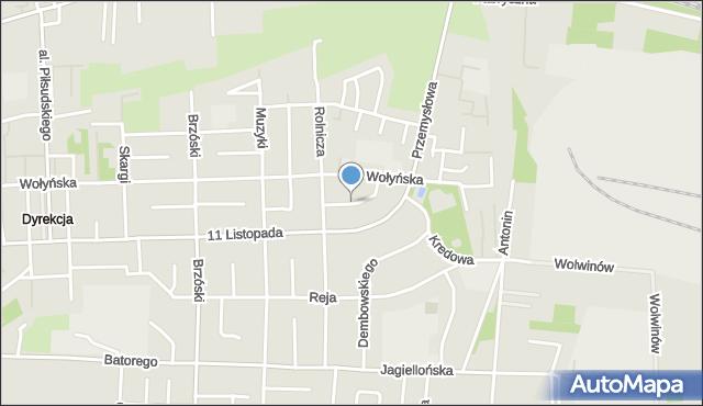 Chełm, Górnicza, mapa Chełma