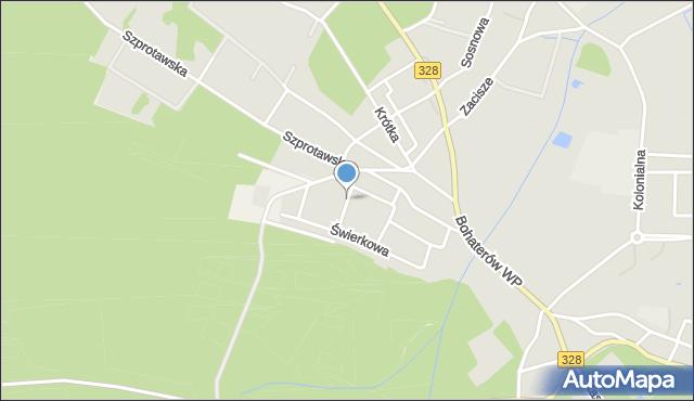 Chocianów, Górnicza, mapa Chocianów
