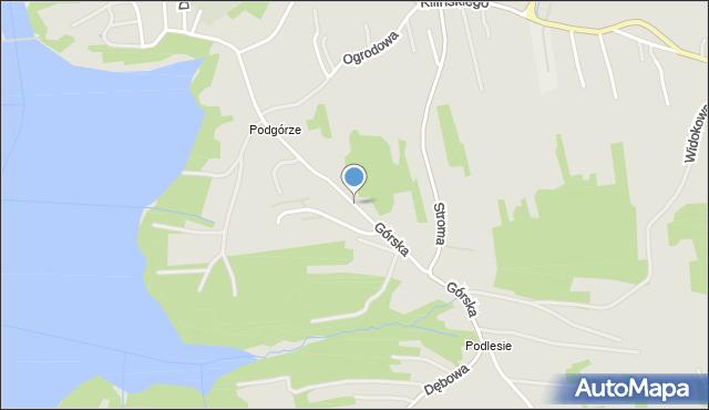 Dobczyce, Górska, mapa Dobczyce