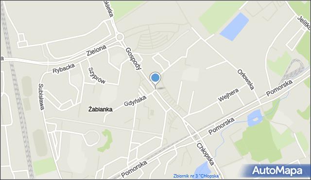 Gdańsk, Gospody, mapa Gdańska