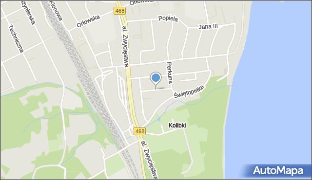 Gdynia, Goplany, mapa Gdyni