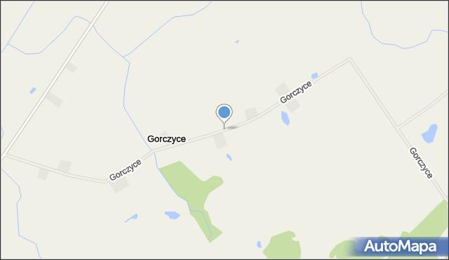 Gorczyce gmina Prostki, Gorczyce, mapa Gorczyce gmina Prostki