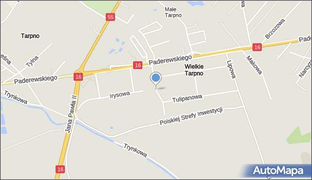 Grudziądz, Goździkowa, mapa Grudziądza