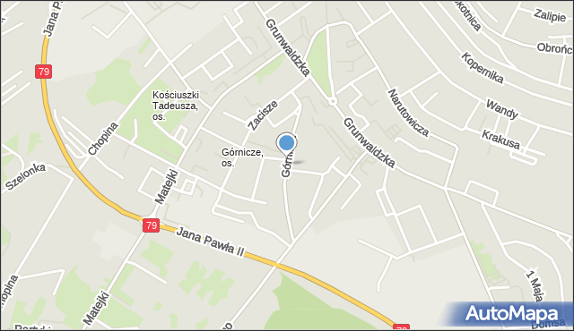 Jaworzno, Górnicza, mapa Jaworzno