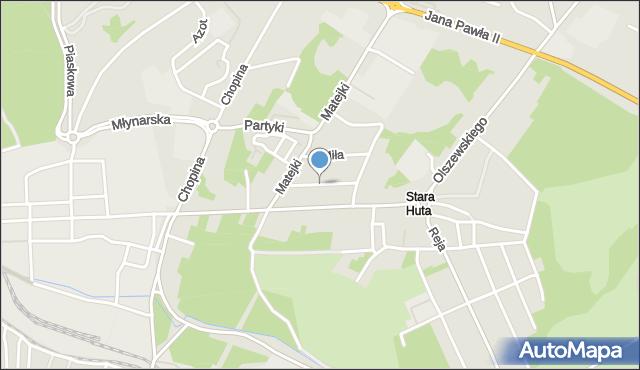 Jaworzno, Gościnna, mapa Jaworzno