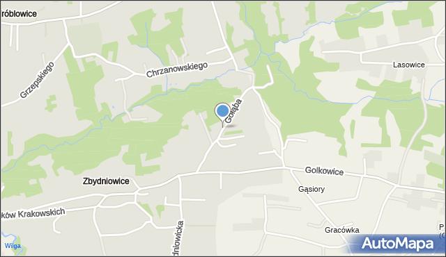 Kraków, Gołąba Stanisława, mapa Krakowa