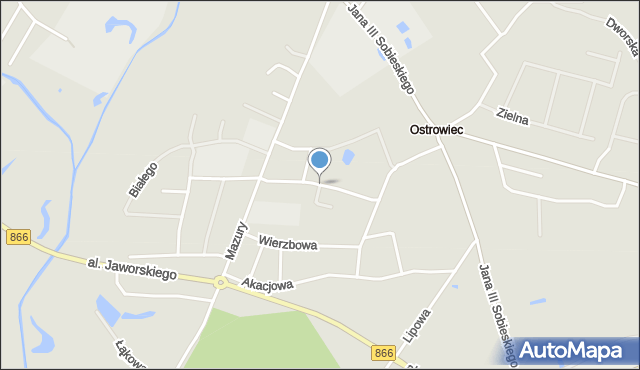 Lubaczów, Gołuchowskiego Agenora, mapa Lubaczów