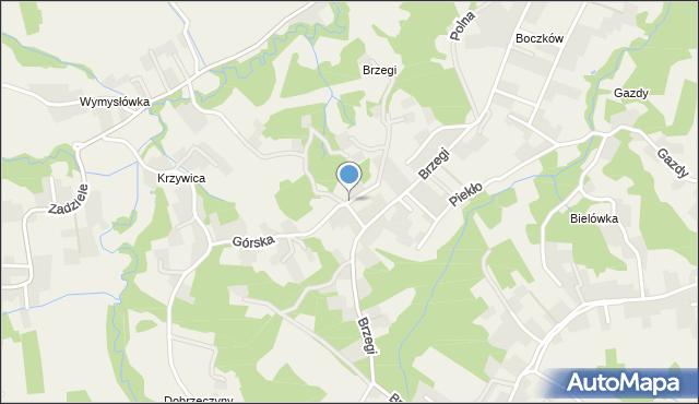 Lusina gmina Mogilany, Górska, mapa Lusina gmina Mogilany