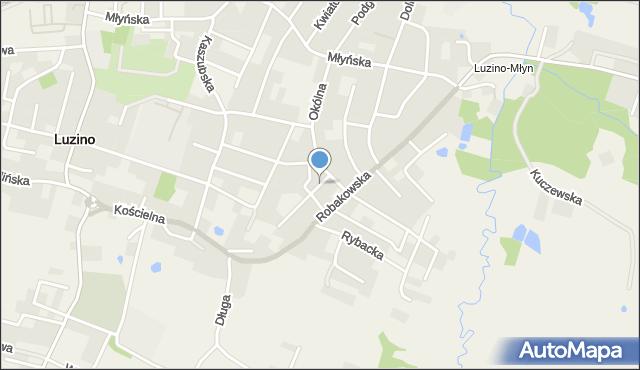 Luzino, Gończa, ks., mapa Luzino