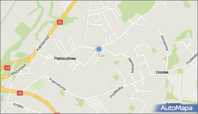 Mikołów, Goździków, mapa Mikołów