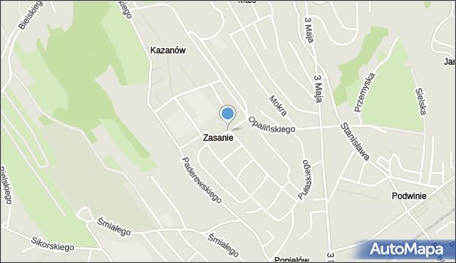 Przemyśl, Gościnna, mapa Przemyśla
