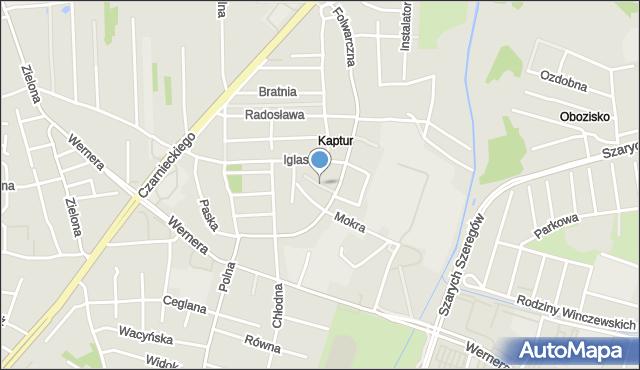 Radom, Gołębia, mapa Radomia