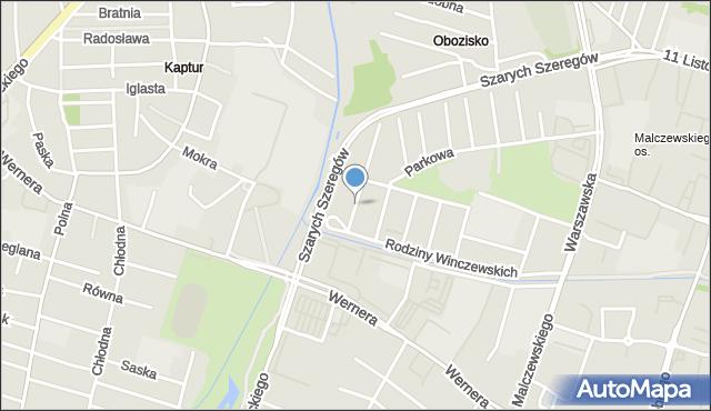 Radom, Gomulickiego Wiktora, mapa Radomia