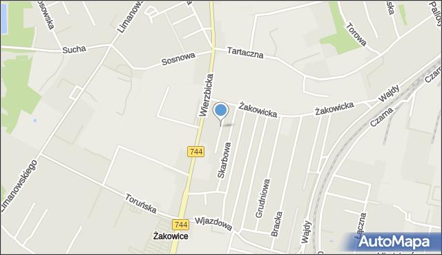 Radom, Gościnna, mapa Radomia