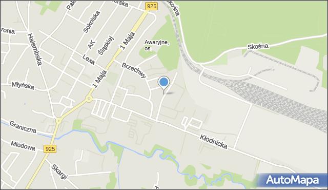 Ruda Śląska, Gojawiczyńskiej Poli, mapa Rudy Śląskiej