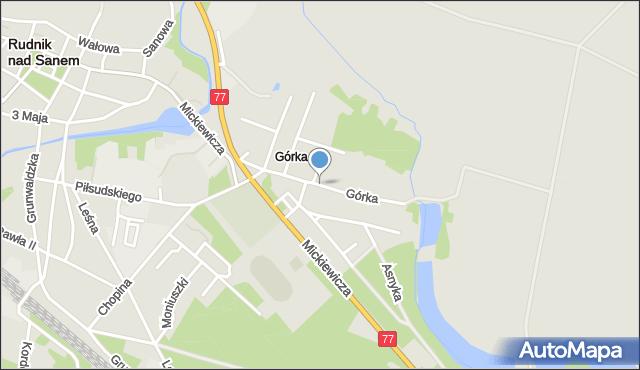 Rudnik nad Sanem, Górka, mapa Rudnik nad Sanem
