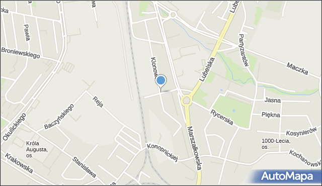 Rzeszów, Gołębia, mapa Rzeszów