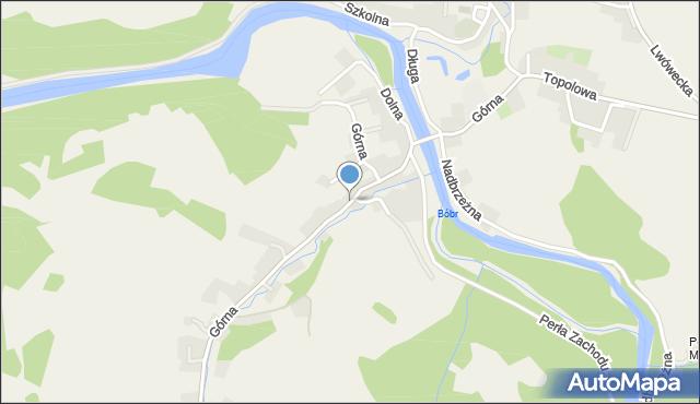 Siedlęcin, Górna, mapa Siedlęcin