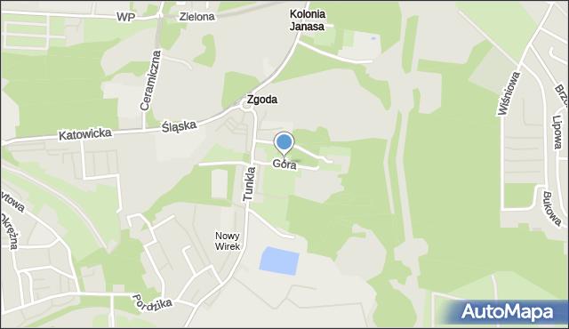 Świętochłowice, Góra Hugona, mapa Świętochłowice
