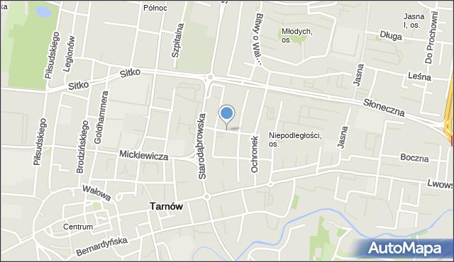 Tarnów, Gomoły Jana, mapa Tarnów