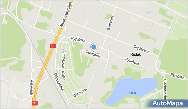 Toruń, Golubska, mapa Torunia
